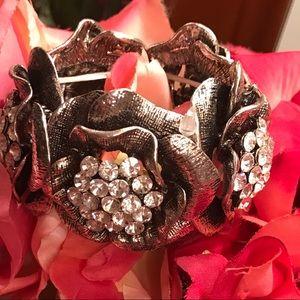 Rose Silver crystal stones bracelet